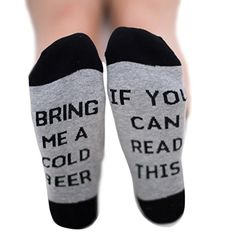 """From 2.81 Qlan """"if You Can Read This Bring Me A Glass Of Wine/coffee/beer""""letter Embroidered Cotton In The Tube Socks Men Women Socks"""