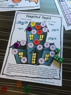 Great Halloween math game to challenge third graders from Halloween Math Games Third Grade by Games 4 Learning -14 printable games that review a variety of third grade skills. Ideal as math center games. $