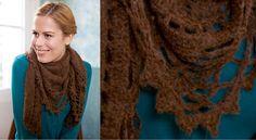 Mon châle dentelle au tricot et crochet Elégante et frileuse, c'est possible. Faites vous plaisir en réalisant ce petit châleau crochet et tricot bordé d'un point dentelle.