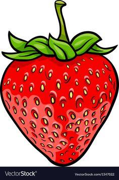 Cartoon Vector Illustration of Strawberry Fruit Food Object Fruit Icons, Cartoon Chicken, Fruit Cartoon, Strawberry Fruit, Strawberry Quotes, Strawberries, Fruits Drawing, Fruits Images, Fruit Illustration