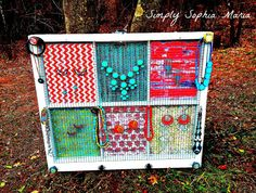 Custom Order a Window Jewelry Holder As A Gift - Great as an Accessories and Picture Holder on Etsy, $99.00