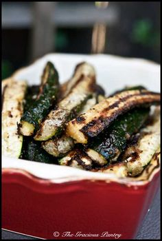 Clean eating is a relatively new thing at our house, but The Gracious Pantry has tons of great recipes to make it easy, like these BBQ Zucchini