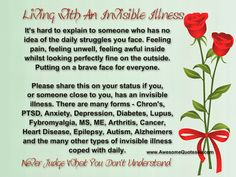 Supporting People With Invisible Illnesses