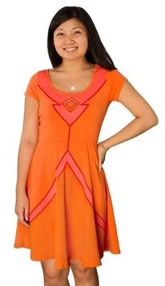 Adventure Time Flame Princess Licensed Flare Dress Cosplay New Juniors Medium #AdventureTime #FlareDress
