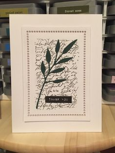 Background stamp:  Elegant Script by Gina K Designs; Thank You by Altenew; Die cut:  Inside and Out Berry Branch by the Greetery; Frame die:  Venise Lace Hemstitch Rectangle by Spellbinders  #ginakdesigns #thegreetery #altenew #AltenewLove #spellbinders