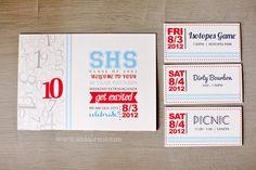 10 yr High School Reunion // Invitation Design » Casa de Lewis