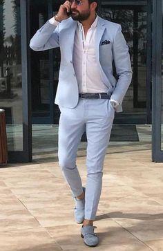 Mens Casual Suits, Dress Suits For Men, Stylish Mens Outfits, Business Casual Outfits, Men Dress, Suit For Man, Man Suit Style, Men Casual Styles, Stylish Clothes For Men