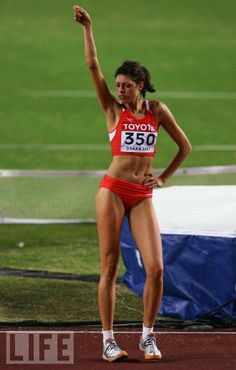 Blanka Vlasic of Croatia celebrates a clean jump on the way to winning the Women's High Jump Final on day nine of the IAAF World Athletics. Olympic Sports, Olympic Games, World Athletics, Beautiful Athletes, Athletic Girls, High Jump, Sporty Girls, Sports Stars, Track And Field