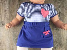 DIY-Anleitung: Jersey-Babykleid mit Puffärmelchen nach Schnittmuster nähen via DaWanda.com