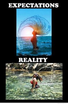 25 Expectation Vs Reality Pictures That Will Make You LOL - Hair flip