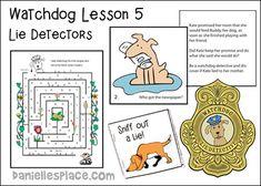 Lie Detectors Watchdog Bible Lesson from www.daniellesplace.com Sunday School Activities, Sunday School Lessons, Sunday School Crafts, Lie Detector, Bible Lessons For Kids, Bible Crafts, Learning Games, Christmas Crafts, Fun