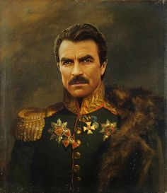 Celebrities as Neoclassical Paintings | Tom Selleck