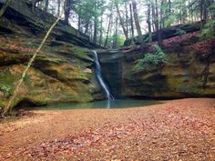 Rock Stalls, Ohio, Hiking, Midwest, Waterfall