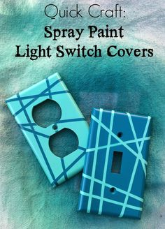 Rock Paper Feather: Quick Craft: Spray Paint Light Switch Covers