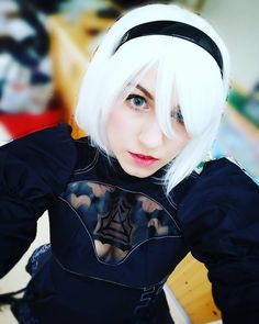 Question: What skill would you love to have that you do not possess right now? For me it would be sewing or speaking many languages. I want to be able to sew my own cosplays and I want to learn Japanese Russian and Norwegian #cosplay #nierautomata #nierautomatacosplay #cosplayer #cosplayergirl #nier #2bcosplay #2b #whitehair #gamecosplay #niercosplay #gamer #nier2b #gamergirl #lenses #greyeyes #manga #anime #kawaii #gamers #a2 #yorha #yorhamodel #9s #visualnovel #squareenix #photography