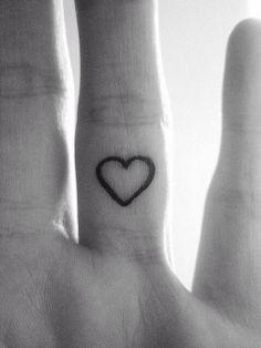 Heart tattoo on a finger :)