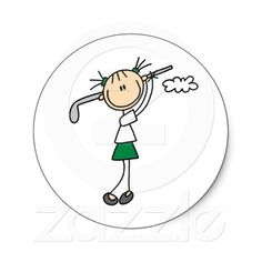 Golf Girl Sticker