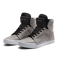 SUPRA SKYTOP | CHARCOAL / BLACK-GREY | Official SUPRA Footwear Site