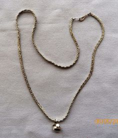 $4.00 Silvertone Necklace with Heart (6516-2535) jewelry, fashion #Unbranded #Chain