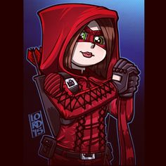 """lordmesa-art:  """"Lady in Red"""" ❤️❤️ Gotta gut feeling well be seeing Thea suited…"""