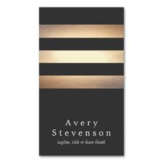Cool Black and Gold Striped Modern *Faux Foil Business Card Templates. This great business card design is available for customization. All text style, colors, sizes can be modified to fit your needs. Just click the image to learn more! Beauty Business Cards, Makeup Artist Business Cards, Black Business Card, Elegant Business Cards, Custom Business Cards, Professional Business Cards, Business Card Design, Creative Business, Business Logos