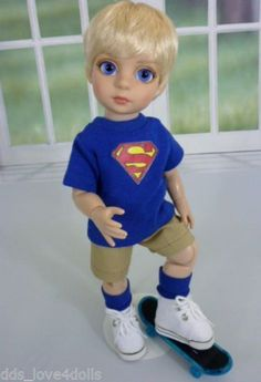 Tonner-10-Boy-Doll-MIKAEL-Customized-Patsy-Doll-Pale-Blonde-Hair-Blue-Eyes
