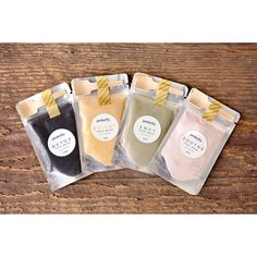 Product labels for face masks by Penberthy Home & Body