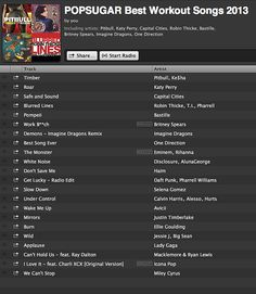 There were so many new songs that hit the Billboard charts and made it into our workout mixes in So we celebrated with a pop-filled playlist of our favorite workout tunes from artists like Daft Punk, Katy Perry, and Calvin Harris. Top track: Timber P Killer Workouts, Fun Workouts, Best Workout Songs, Workout Mix, Fitness Motivation, Fitness Quotes, Nutrition, I Work Out, Just Do It