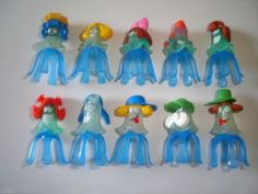 Kinder Surprise Set Blue Jellyfish 2006 Figures Toys Collectibles | eBay