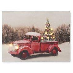 Christmas Truck, Christmas Holidays, Christmas Ideas, Christmas Scenes, White Christmas, Vintage Christmas, Merry Christmas, Christmas Plates, Christmas Ornaments