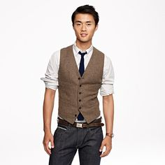 How to wear a #vest with jeans and a casual shirt.