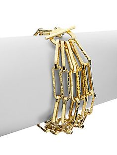 1AR by UNOAERRE Five Strand Rectangle Link Bracelet