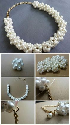 DIY collar de perlas Tutorial