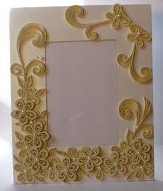 Let's create: Decorated Foam Board Quilling Wedding Photo Frame