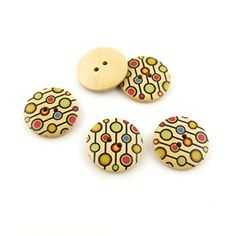 60 Pieces Sewing Clothing Buttons Sew On Wooden Wood Knopfe BB1610 Circles Lines Round Colorful Plush Lovely Accessory Decoration Handmade Cute Scrapbook Flatback DIY -- Want additional info? Click on the image.