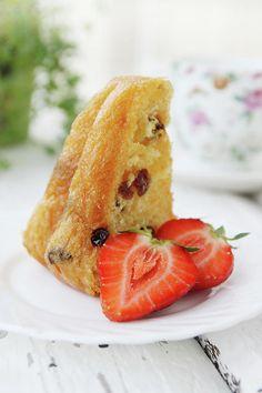 Rum Baba Dessert  Photograph by Iuliia Malivanchuk #IuliiaMalivanchuk #IuliiaMalivanchukFineArtPhotography #ArtForHome #FineArtPrints #HomeDecor #ArtWorks #InteriorDesign #Dessert #Cake #Strawberry