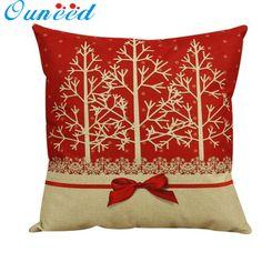 Vintage Christmas decorative Cushion Cover Throw Pillow Pillowslip Case for Sofa Bed square Cotton Linen 45cm capas de almofada #clothing,#shoes,#jewelry,#women,#men,#hats,#watches,#belts,#fashion,#style
