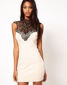 Lipsy Lace Collar Dress