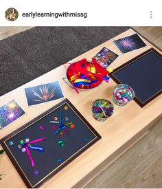 Firework transient art - photo courtesy of earlylearningwithmissg on Instagram.