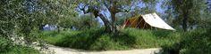 Rustiek camperen op een mini boerderijcamping bij Nederlanders in Italie Rocca di Sotto, Abruzzen (onder de marken). Prachtige camping!