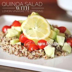 Take this delicious Quinoa Avocado Salad recipe and run! Such great flavor and 21 Day Fix approved!