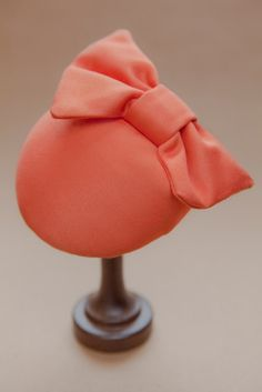 Cocktail hat in coral vintage cotton sateen by hellostrumpet, £50.00