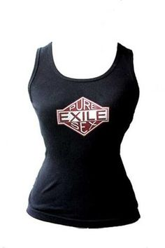 Exile Cycles Girls Pure Sex,  black vest T-shirt Black Vest, Athletic Tank Tops, Cycling, Pure Products, Girls, T Shirt, Clothes, Collection, Women