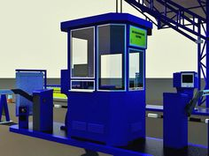 Design and fabrications. Parking booth and canopy.