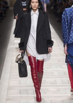FENDI - this is such a sexy outfit. I would love the boots....