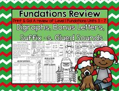 Christmas Themed Fundations Review Fundations Level 1