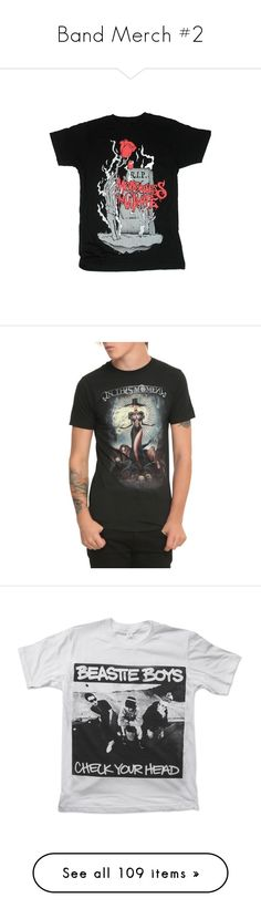 """""""Band Merch #2"""" by mrsmotionless ❤ liked on Polyvore featuring tops, t-shirts, band tee, graphic tees, rock t shirts, 1980s t shirts, 80s rock band t shirts, rock tees, 80s tees and vintage rock and roll t shirts"""