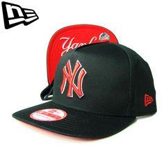 """【ニューエラ】【NEW ERA】9FIFTY SNAPBACK NEW YORK YANKEES  """"NY"""" ブラックXレッド アンダーバイザー スナップバック【CAP】【newera】【帽子】【ニューヨーク・ヤンキース】【MLB】【snap back】【黒】【赤】【UV】【キャップ】【あす楽】【楽天市場】"""