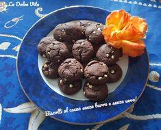 Biscotti al cacao senza burro e senza uova! Cacao, Muffin, Cookies, Chocolate, Baking, Breakfast, Desserts, Bread Making, Breakfast Cafe