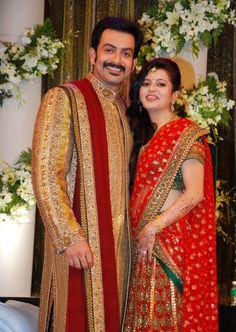 www.sameepam.com Prithviraj   Supriya Menon Wedding Reception Stills